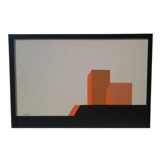"Original Hard Edge Painting by Listed Artist ""Rick Orr"" (B.1959)"