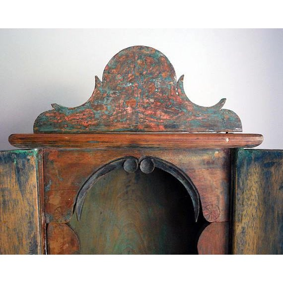 Antique 19th Century Brazilian Baroque Oratory Wood Altar Piece - Image 5 of 7