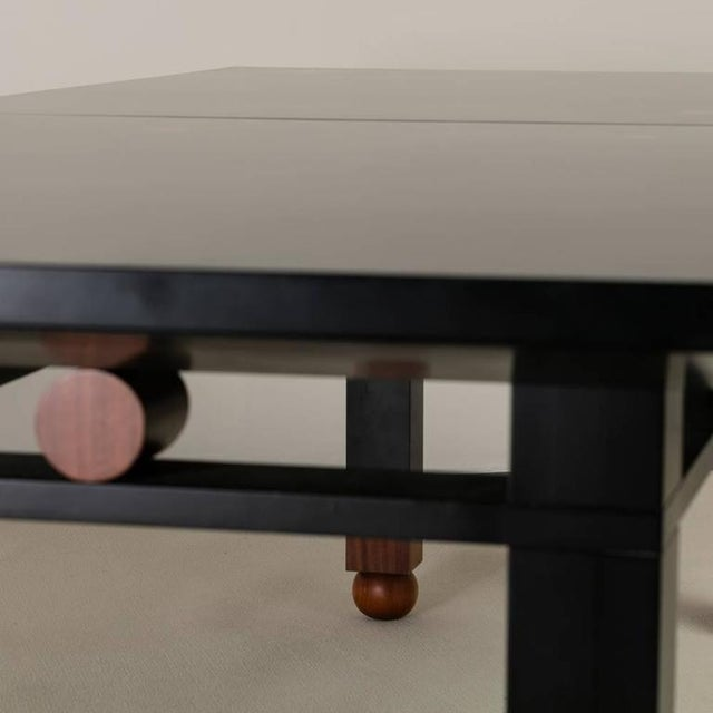 Saporiti Designed Extendable Lacquered Wood Dining Table, 1980s - Image 3 of 6