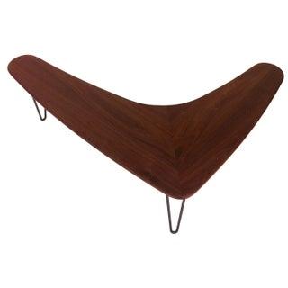 Solid Walnut Boomerang Coffee Table - Handmade