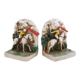 1930s Newport Polo Bookends - A Pair