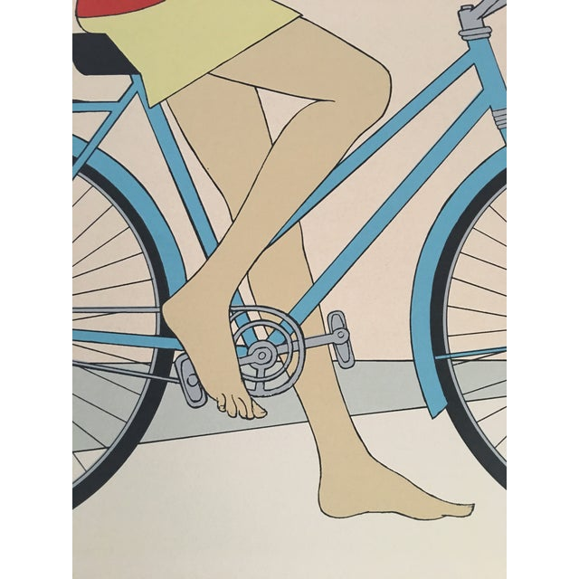 "Will Barnet ""Blue Bicycle"" Signed Serigraph - Image 10 of 11"