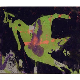 Josephine Mahaffey Vintage Abstract Dove Painting