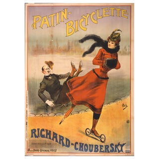 1800s Patin-Bicyclette Print of Ad