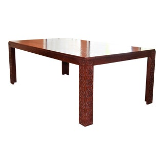 Chinoiserie Parson Dining Table