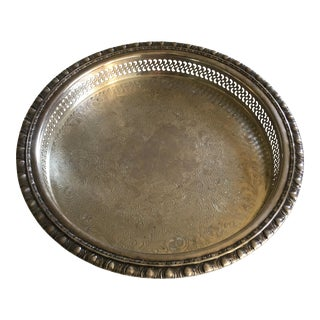 Antique Roger's & Bro Silver Serving Tray