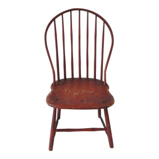 Fantastic Original Salmon Painted 19thc Windsor Chair