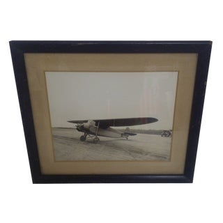 Vintage Airplane Framed Photograph