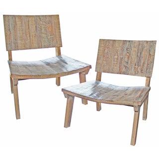 Reclaimed Wood Beach Chairs - a Pair