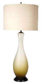 1960s Italian Frosted Glass Table Lamp