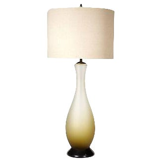 Image of 1960s Italian Frosted Glass Table Lamp