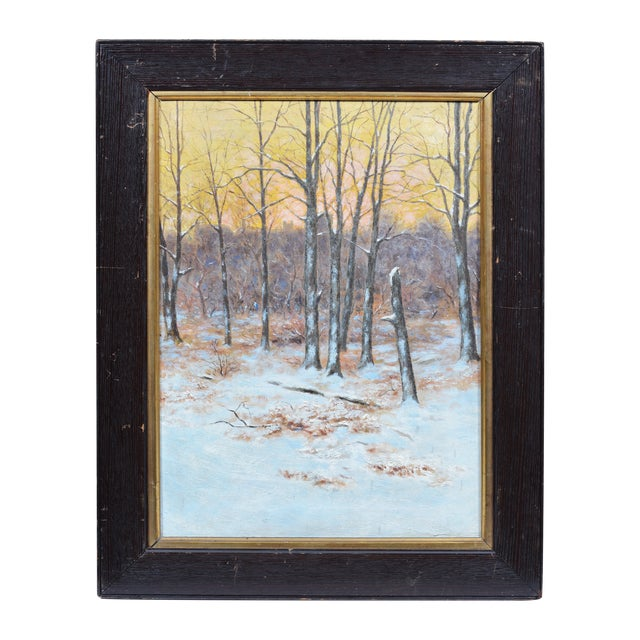 Winter Impressionist Painting of Central Park - Image 1 of 8