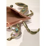 Image of 1960's Mexican Copper Abalone & Brass Crab Dish