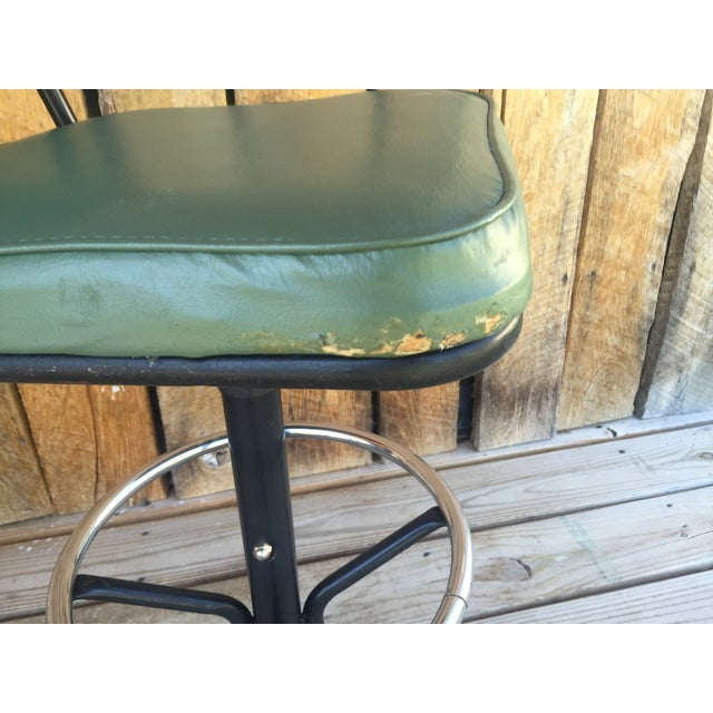 Mid-Century Bar Stools in Jade - A Pair - Image 8 of 11