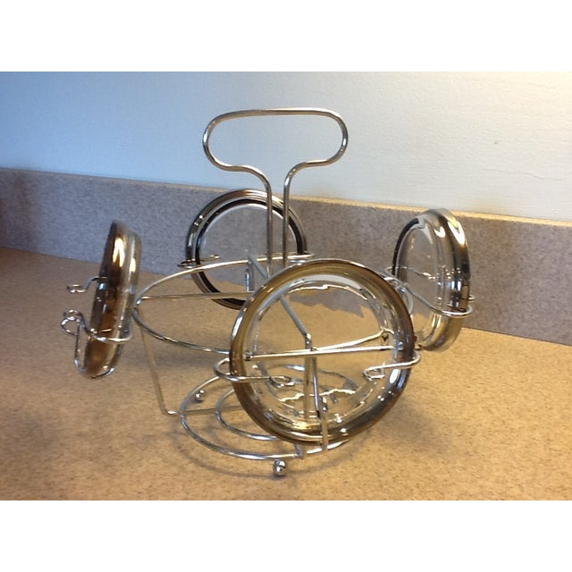 Image of Chrome Caddy Silver Ombre Glasses & Coasters Set