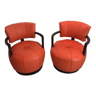 Gilbert Rhode Swivel Chairs - A Pair