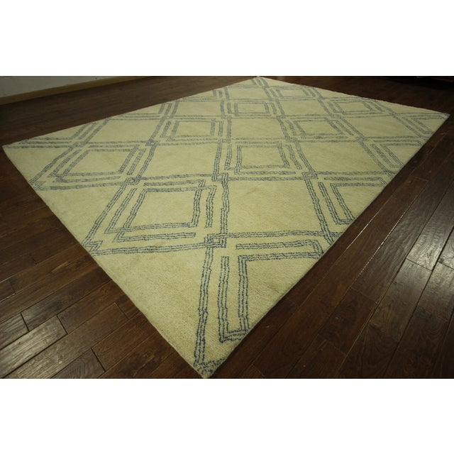Diamond Moroccan Hand Knotted Rug - 10' x 13' - Image 2 of 10