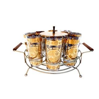 Mid-Century 22 KT Gold Signed Vito Bari Bar Set