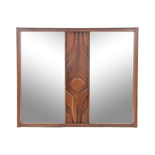 Cavalier Style Mid-Century Brutalist Mirror
