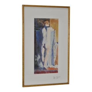 1930s Figurative Nude Watercolor by Roger Hayward