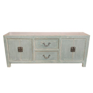 Reclaimed Wood 2-Drawer Distressed Gray Sideboard
