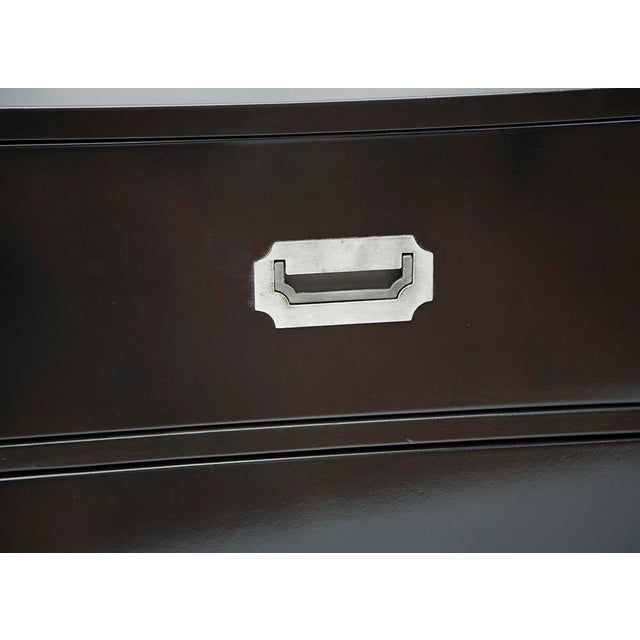 Image of Black Lacquered Campaign Chest