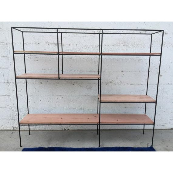 Muriel Coleman Style Steel & Wood Wall Unit - Image 2 of 6