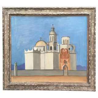 """Santa Fe Mission"" Oil Painting by Henry Hudson Baker"