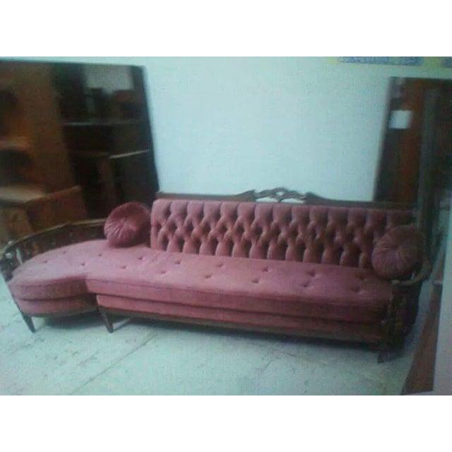 Hollywood Regency Style Rose Sofa - Image 2 of 4
