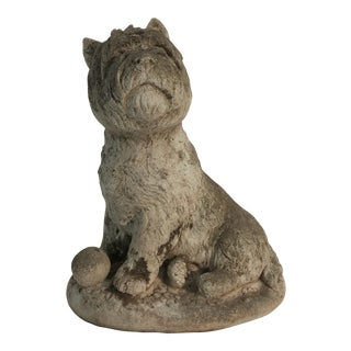 Cast Stone Scottie Dog