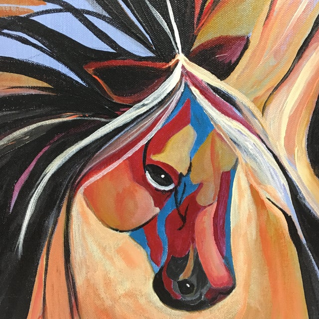 Abstract Horse Acrylic Painting - Image 3 of 6