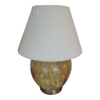 Vintage Gold Ceramic Lamp and Shade