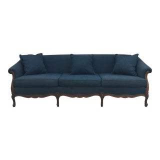 Vintage Extra Long Denim Sofa