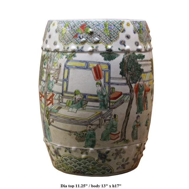 Image of Chinese Porcelain Garden Stool with Scenery