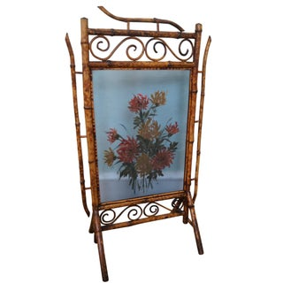 Antique 19th Century Bamboo Fire Screen