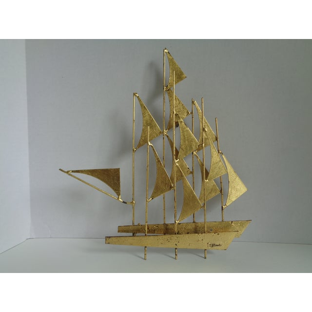 Mid-Century Ship Sculpture by Bowie - Image 2 of 6