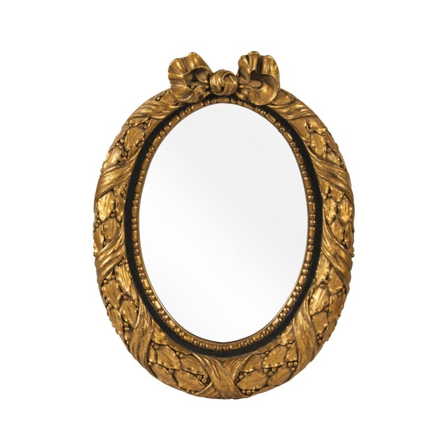 French Gilded Oval Mirror - Image 1 of 2