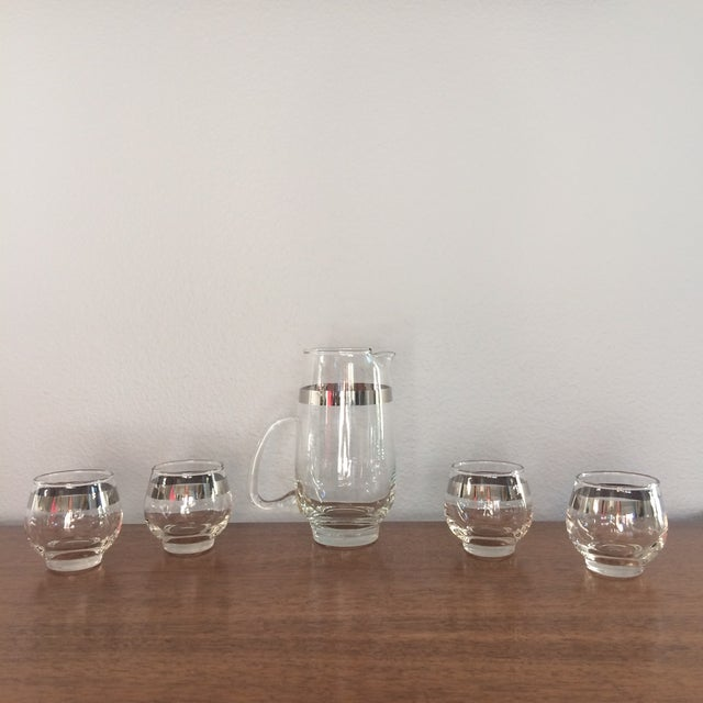 Mid Century Silver Band Liquor - Set of 5 - Image 2 of 7