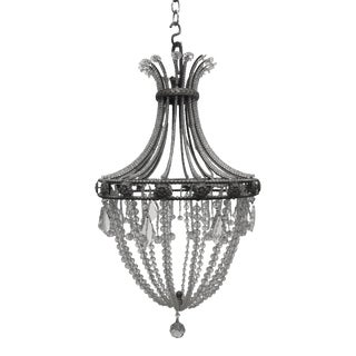Vintage French Bronze and Crystal Chandelier