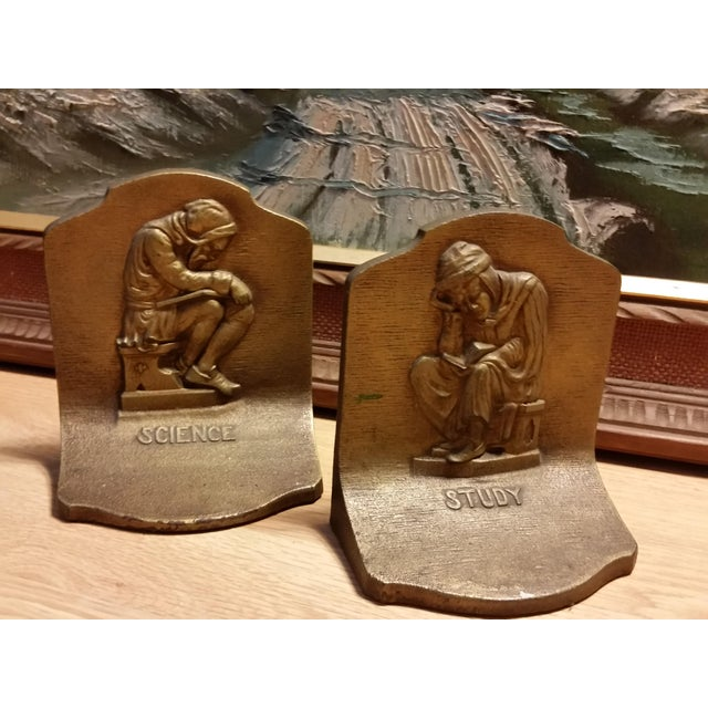 Bradley & Hubbard Science & Study Bookends - a Pair - Image 2 of 7