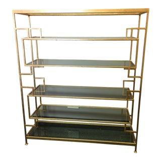 Worlds Away Lamar Gold Leaf Etagere