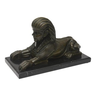 French Patinated Bronze Reduction of a Sphinx, Joaquim Corierra