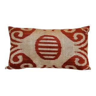 """""""Stela"""" Silk Velvet Ikat Pillow"""