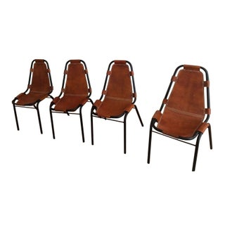 Charlotte Perriand Style Sling Chairs - Set of 4