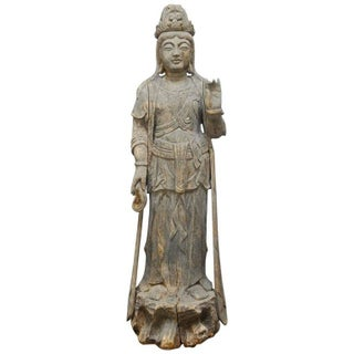 Buddhist Carved Guanyin Bodhisattva Statue