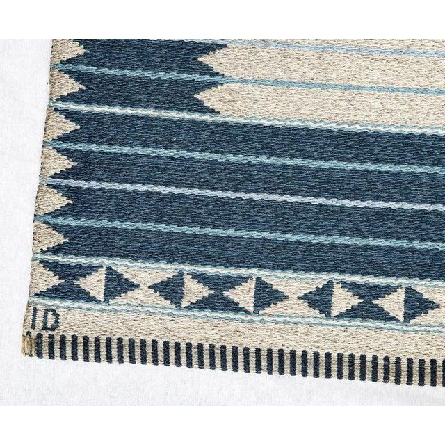 Vintage Ingrid Dessau Flat-Weave Swedish Carpet - Image 3 of 5