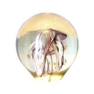 Early R. W. Stephan Art Glass Paperweight 1980