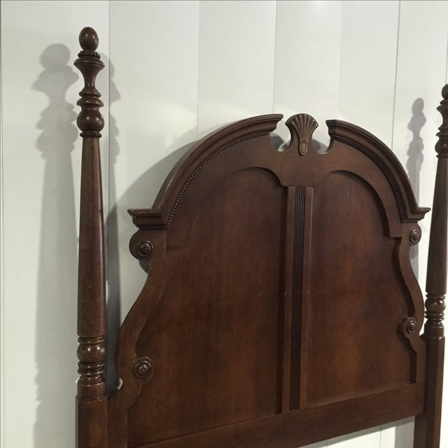 Queen Anne Solid Walnut Queen/Full Bed Frame - Image 8 of 8