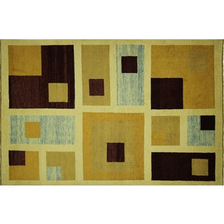 "Gabbeh Multi-Colored Wool Area Rug - 5'8"" x 8'5"""
