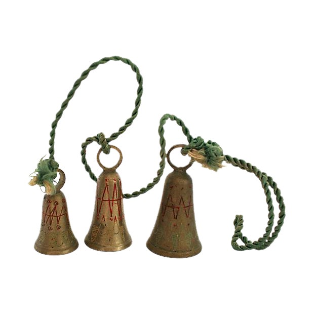 "Image of 1950s Brass ""Bells of Sarna India"""